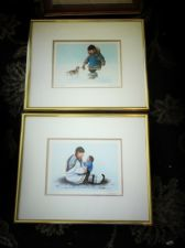 PAIR COLLECTABLE  PRINTS DOROTHY FRANCIS HAPPY TIMES & MISCHIEF MAKERS ESKIMO